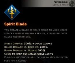 Dragon Age Inquisition - Spirit Blade Knight-Enchanter mage skill