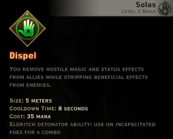 Dragon Age Inquisition - Dispel Spirit mage skill