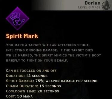 Dragon Age Inquisition - Spirit Mark Necromancer mage skill