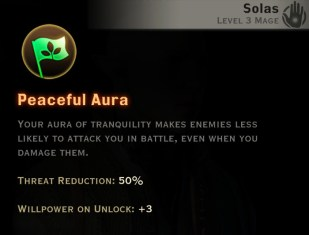 Dragon Age Inquisition - Peaceful Aura Spirit mage skill