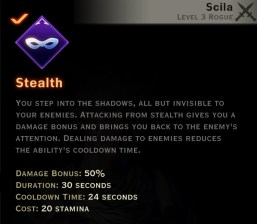Dragon Age Inquisition - stealth Subterfuge rogue skill
