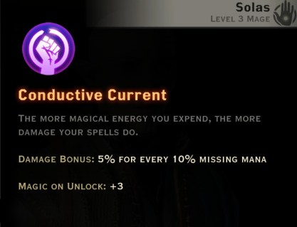 Dragon Age Inquisition - Conductive Current Storm mage skill