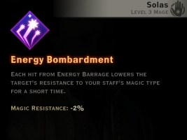 Dragon Age Inquisition - Energy Bombardment Storm mage skill