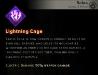 Dragon Age Inquisition - Lightning Cage Storm mage skill