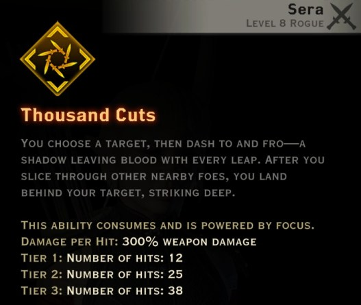 Dragon Age Inquisition - Thousand Cuts Tempest rogue skill