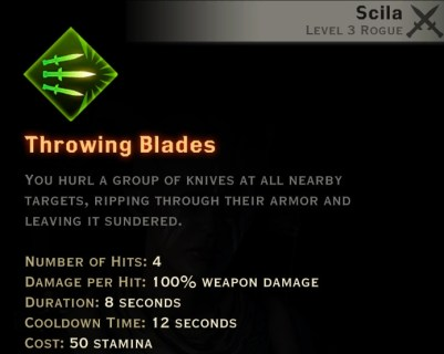 Dragon Age Inquisition - Throwing Blades Sabotage rogue skill
