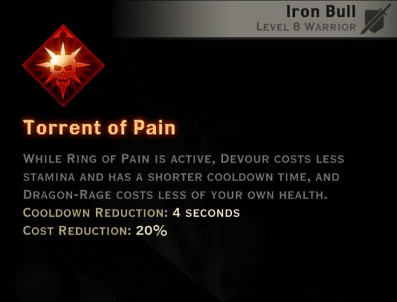Dragon Age Inquisition - Torrent of Pain Reaver warrior skill