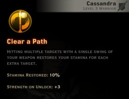 Dragon Age Inquisition - Clear a Path Two-Handed Weapon warrior skill