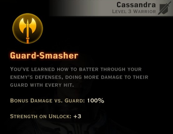 Dragon Age Inquisition - Guard-Smasher Two-Handed Weapon warrior skill