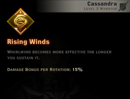 Dragon Age Inquisition - Rolling Winds Two-Handed Weapon warrior skill