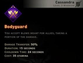Dragon Age Inquisition - Bodyguard Vanguard warrior skill