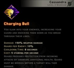 Dragon Age Inquisition - Charging Bull Vanguard warrior skill