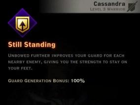 Dragon Age Inquisition - Still Standing Vanguard warrior skill