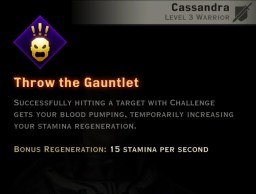 Dragon Age Inquisition - Throw the Gauntlet Vanguard warrior skill
