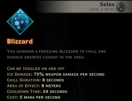 Dragon Age Inquisition - Blizzard Winter mage skill