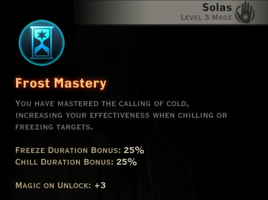 Dragon Age Inquisition - Frost Mastery Winter mage skill