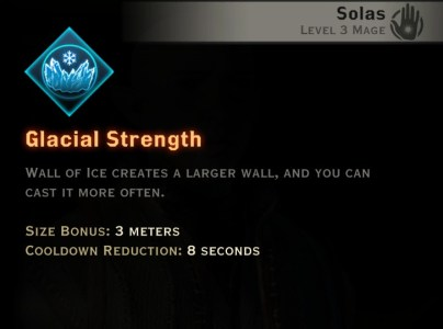 Dragon Age Inquisition - Glacial Strength Winter mage skill