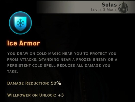 Dragon Age Inquisition - Ice Armor Winter mage skill