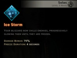 Dragon Age Inquisition - Ice Storm Winter mage skill