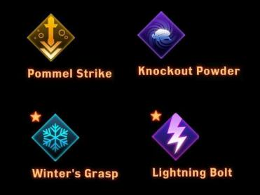 CC effects such as Winter's grasp and Pommel Strike are required to set up a combo