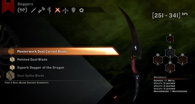 Masterwork Dual Curved Blade - Dragon age inquisition
