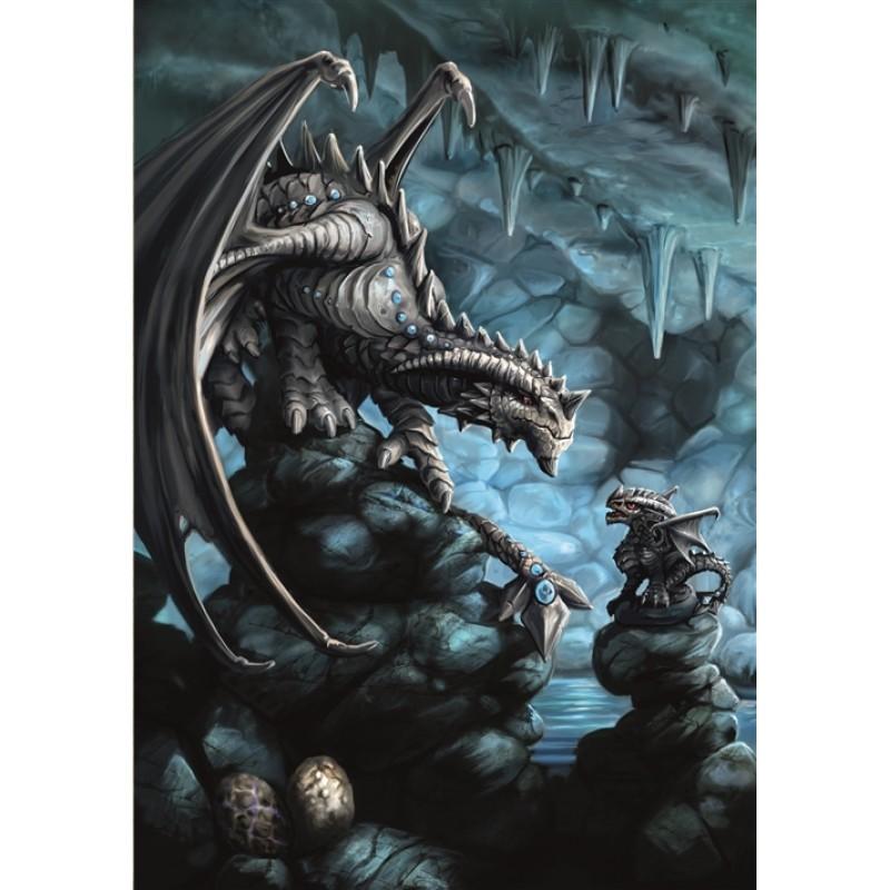 Anne Stokes Fantasy Greeting Card Rock Dragon