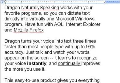 Dragon Naturallyspeaking World S Best Selling Speech