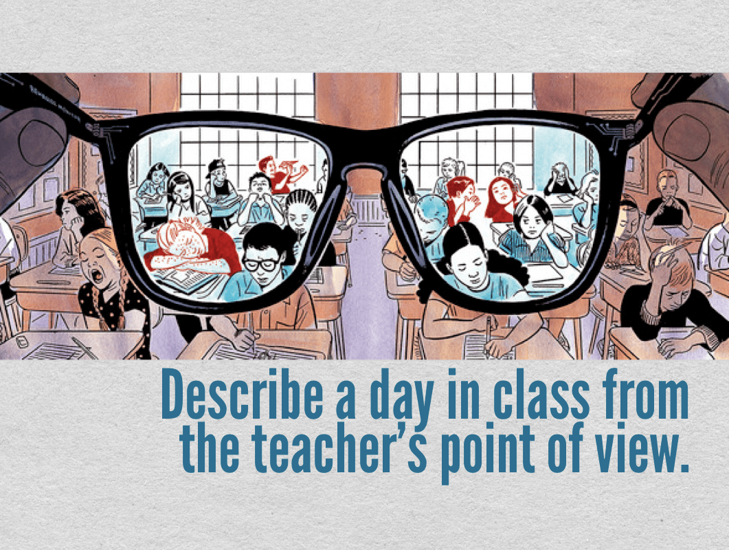 A day in the class from the teacher's point of view
