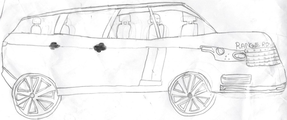 medium resolution of hand drawn cars pencil sketches of cars range rover