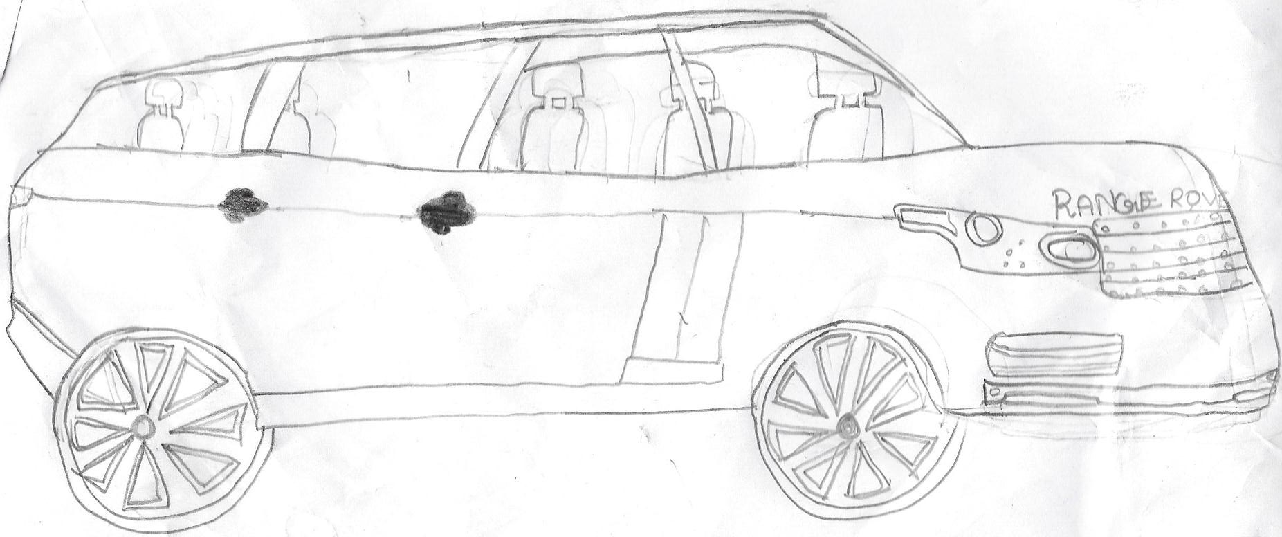 hight resolution of hand drawn cars pencil sketches of cars range rover