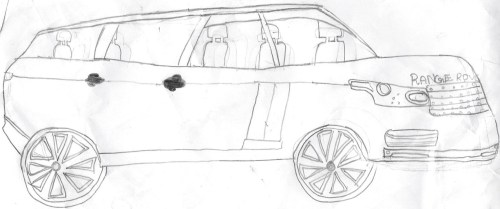 small resolution of hand drawn cars pencil sketches of cars range rover