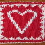 Double knit heart hotpad 01