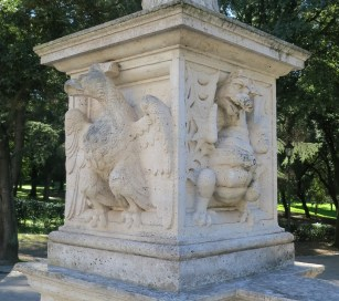 Dragon and Rooster at Villa Borghese