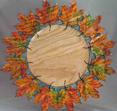 Carved Leaf Oak #286