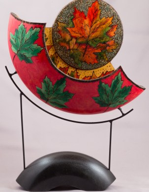 Maple Leaf Split Sculpture