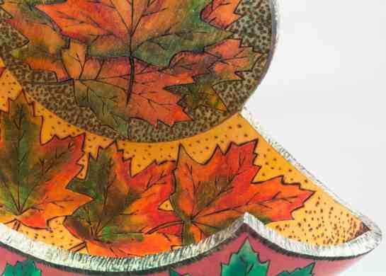 Split Turning, Red Maple Leaves