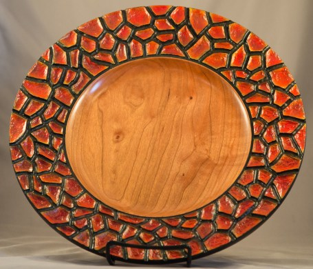 Cherry Scales Plate, Red
