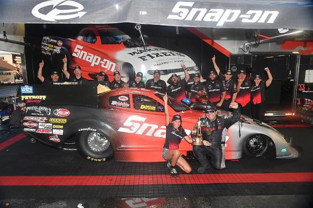 win for pedregon racing's dodge charger srt hellcat funny