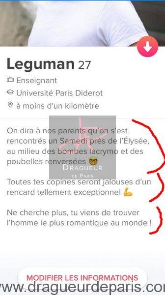 Description Site De Rencontre Drole : description, rencontre, drole, Description, Tinder, Exemples, CARTONNENT, (séduction)