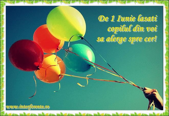 felicitari ziua copilului 1 iunie baloane
