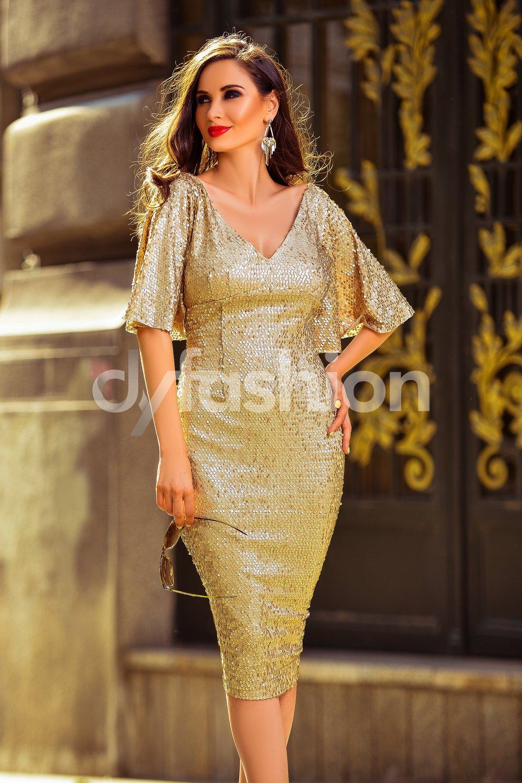 rochie-goldenia-din-paiete-aurii-cu-maneci-clos-24304-4