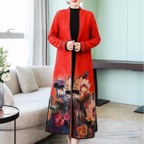 palton dama cu imprimeu
