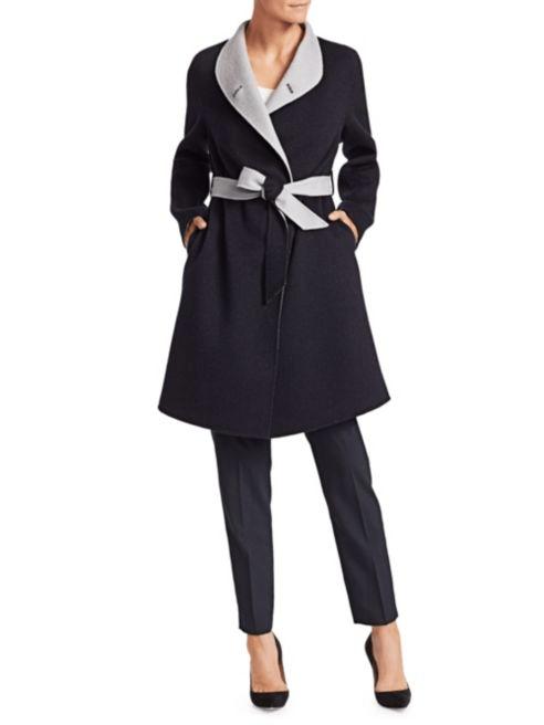 palton dama din amestec casmir si lana
