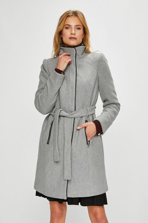 palton dama gri cu cordon