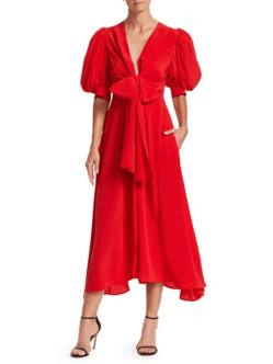 rochie rosie din satin vintage