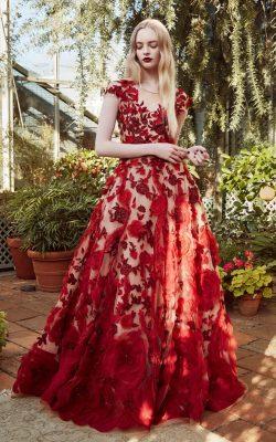 rochie rosie din satin
