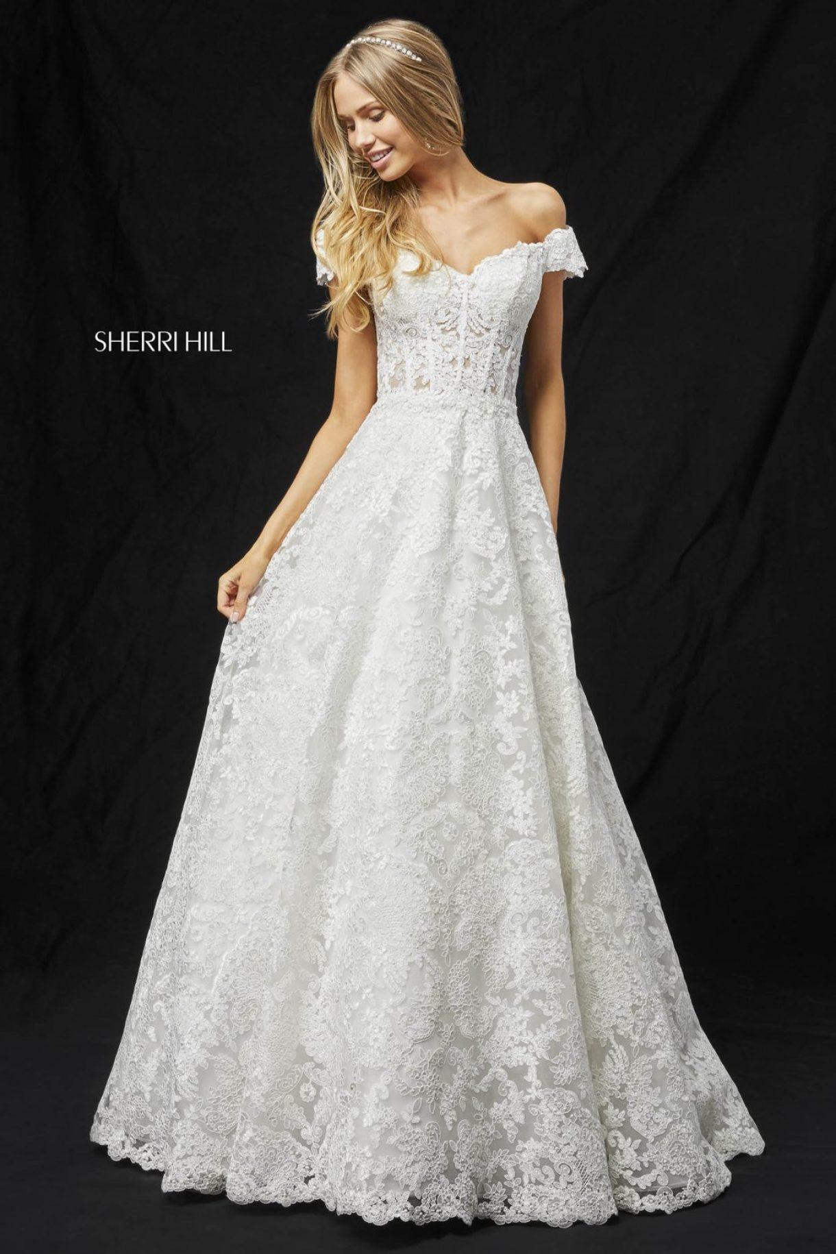 Rochie Sherri Hill 51573 White