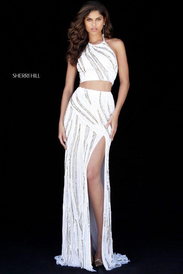 Rochie Sherri Hill 51737 White