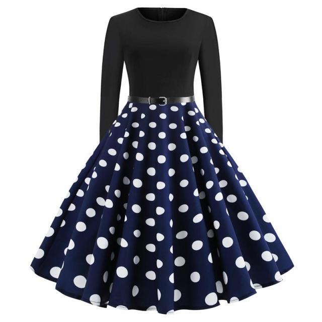 rochie de primavara cu buline