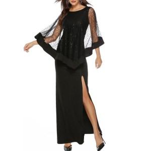 Îmbrăcăminte lungă de seară Shine Sequin Sparkle Elegant Femei Seara Partidul Split Rochii